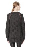 T by ALEXANDER WANG MERINO BLEND TUNIC WITH RIB DETAIL TOP Adult 8_n_d