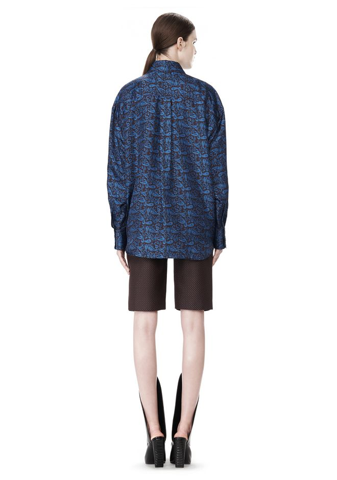 ALEXANDER WANG DOUBLE LAYER OVERSIZED MEN'S SHIRT TOP Adult 12_n_r