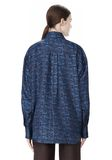 ALEXANDER WANG DOUBLE LAYER OVERSIZED MEN'S SHIRT TOP Adult 8_n_d