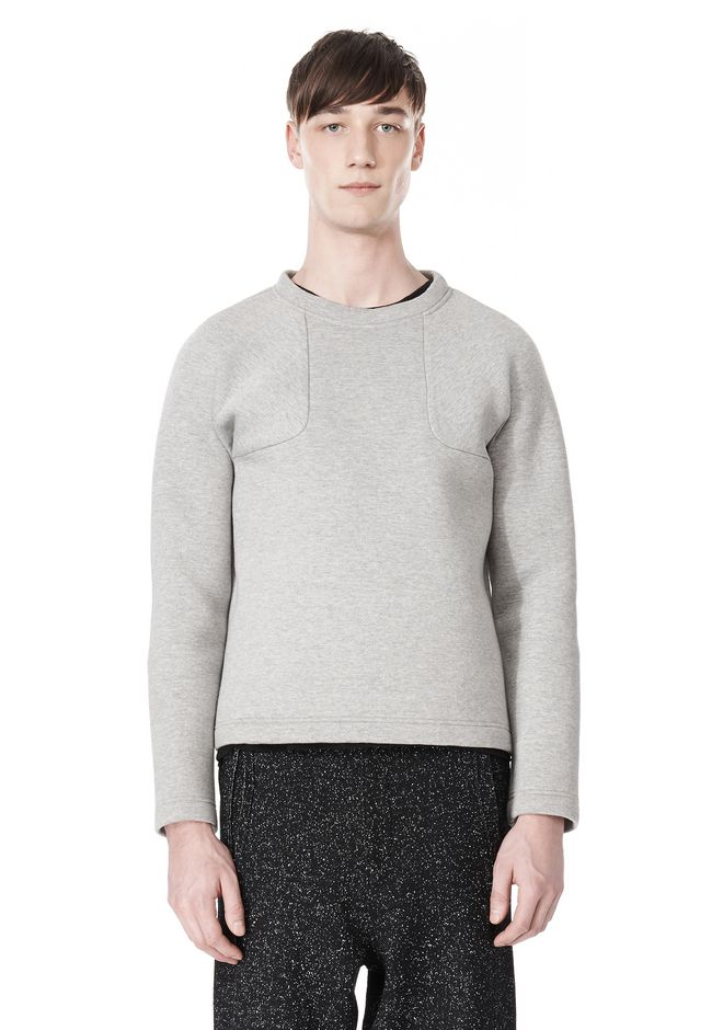 T by ALEXANDER WANG CREWNECK NEOPRENE SWEATSHIRT TOP Adult 12_n_e