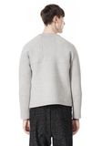 T by ALEXANDER WANG CREWNECK NEOPRENE SWEATSHIRT TOP Adult 8_n_d