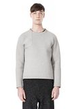 T by ALEXANDER WANG CREWNECK NEOPRENE SWEATSHIRT TOP Adult 8_n_e
