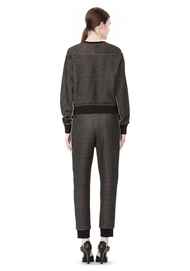 T by ALEXANDER WANG COTTON TWILL FRENCH TERRY CROPPED SWEATSHIRT TOP Adult 12_n_r