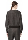 T by ALEXANDER WANG COTTON TWILL FRENCH TERRY CROPPED SWEATSHIRT TOP Adult 8_n_d