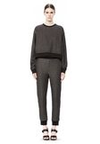 T by ALEXANDER WANG COTTON TWILL FRENCH TERRY CROPPED SWEATSHIRT TOP Adult 8_n_f