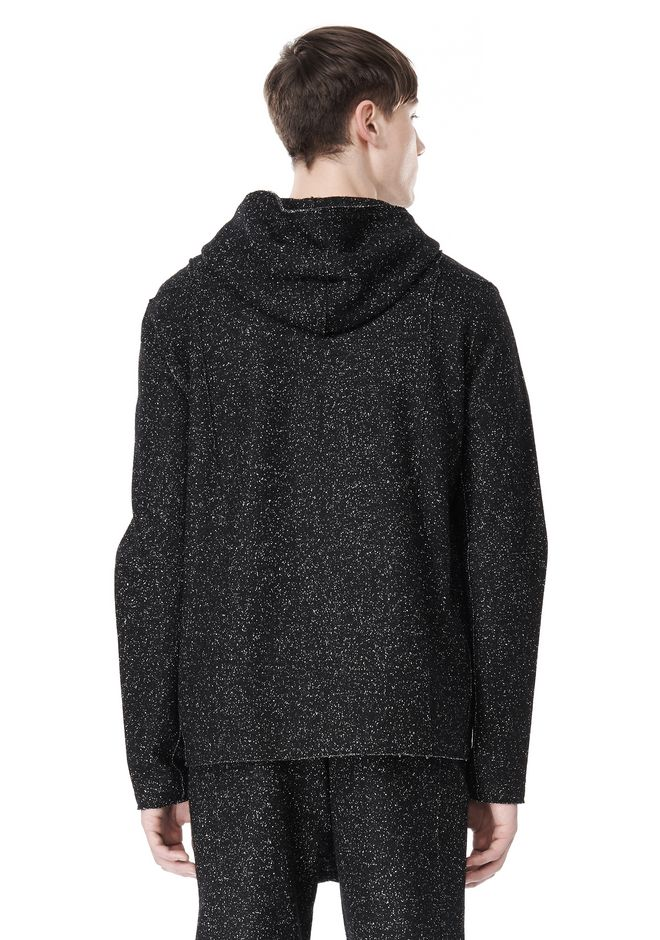 T by ALEXANDER WANG BOUCLE FLEECE HOODED JACKET TOP Adult 12_n_d