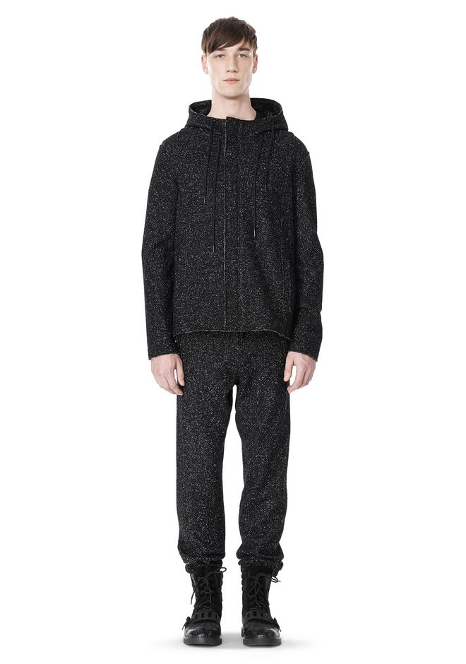 T by ALEXANDER WANG BOUCLE FLEECE HOODED JACKET TOP Adult 12_n_f