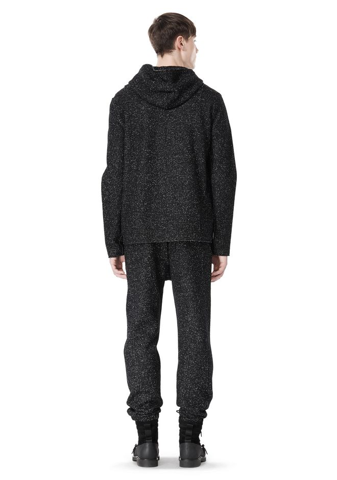 T by ALEXANDER WANG BOUCLE FLEECE HOODED JACKET TOP Adult 12_n_r