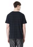 T by ALEXANDER WANG LINEN COTTON  STRIPE CREWNECK SHORT SLEEVE TEE Short sleeve t-shirt Adult 8_n_d