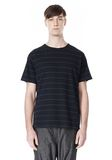 T by ALEXANDER WANG LINEN COTTON  STRIPE CREWNECK SHORT SLEEVE TEE Short sleeve t-shirt Adult 8_n_e