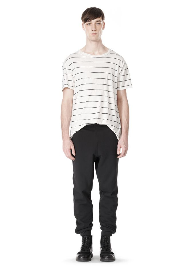 T by ALEXANDER WANG LINEN COTTON  STRIPE CREWNECK SHORT SLEEVE TEE Short sleeve t-shirt Adult 12_n_f