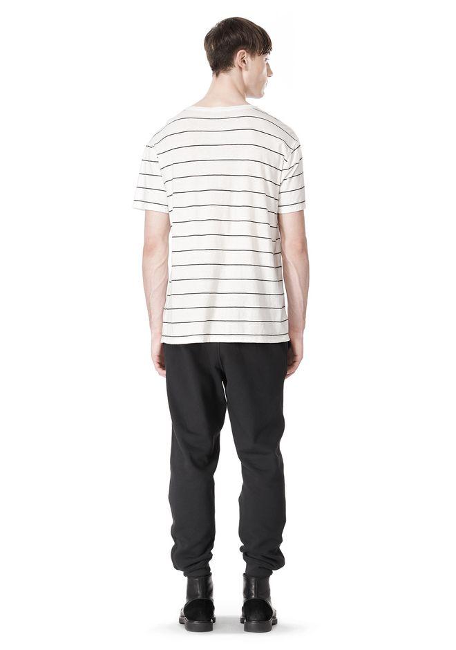 T by ALEXANDER WANG LINEN COTTON  STRIPE CREWNECK SHORT SLEEVE TEE Short sleeve t-shirt Adult 12_n_r