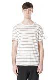 T by ALEXANDER WANG LINEN COTTON  STRIPE CREWNECK SHORT SLEEVE TEE Short sleeve t-shirt Adult 8_n_e