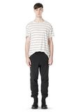 T by ALEXANDER WANG LINEN COTTON  STRIPE CREWNECK SHORT SLEEVE TEE Short sleeve t-shirt Adult 8_n_f