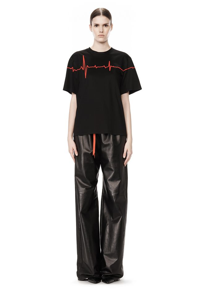 ALEXANDER WANG CREWNECK TEE WITH BONDED HEARTBEAT GRAPHIC Short sleeve t-shirt Adult 12_n_f
