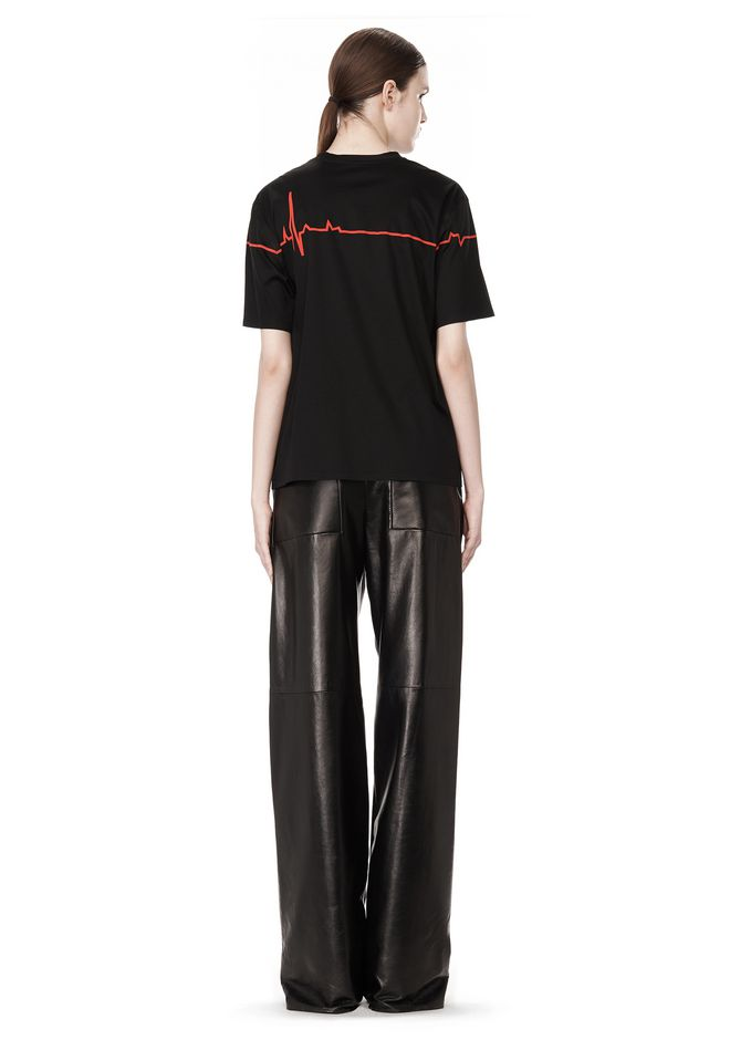 ALEXANDER WANG CREWNECK TEE WITH BONDED HEARTBEAT GRAPHIC Short sleeve t-shirt Adult 12_n_r