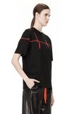 ALEXANDER WANG CREWNECK TEE WITH BONDED HEARTBEAT GRAPHIC Short sleeve t-shirt Adult 8_n_a