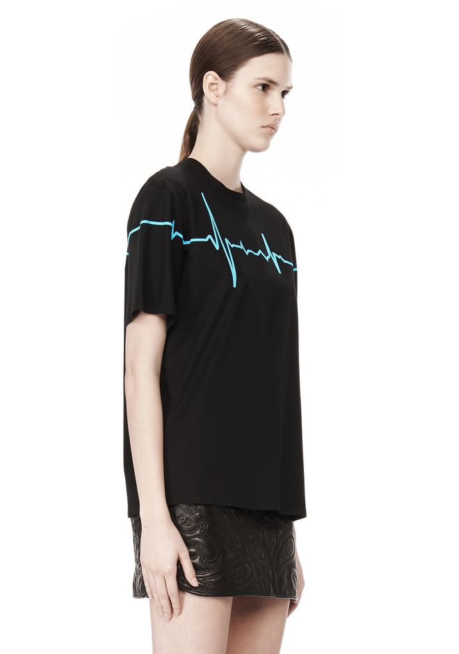 ALEXANDER WANG CREWNECK TEE WITH BONDED HEARTBEAT GRAPHIC Short sleeve t-shirt Adult 12_n_a