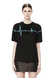 ALEXANDER WANG CREWNECK TEE WITH BONDED HEARTBEAT GRAPHIC Short sleeve t-shirt Adult 8_n_e