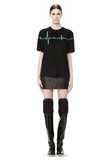 ALEXANDER WANG CREWNECK TEE WITH BONDED HEARTBEAT GRAPHIC Short sleeve t-shirt Adult 8_n_f
