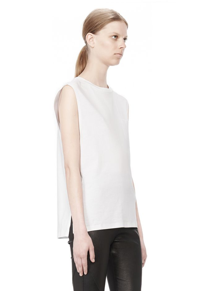 T by ALEXANDER WANG COTTON JERSEY WELDED MUSCLE TEE  TOP Adult 12_n_a