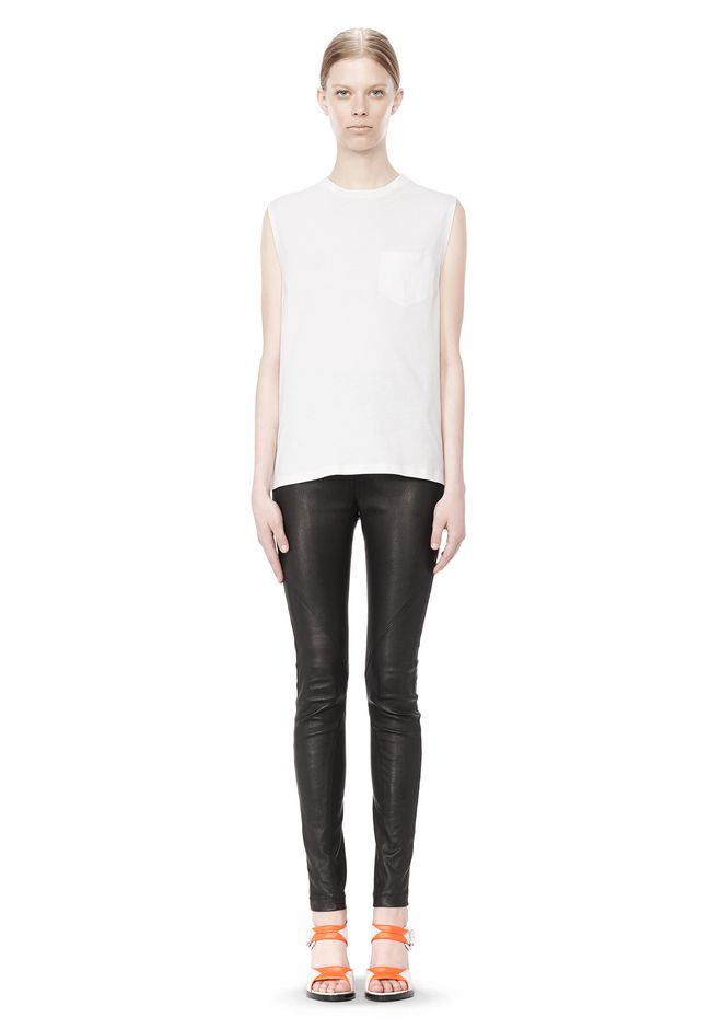 T by ALEXANDER WANG COTTON JERSEY WELDED MUSCLE TEE  TOP Adult 12_n_f