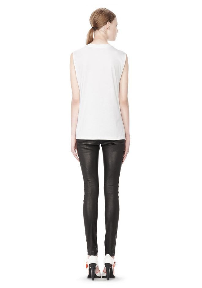T by ALEXANDER WANG COTTON JERSEY WELDED MUSCLE TEE  TOP Adult 12_n_r