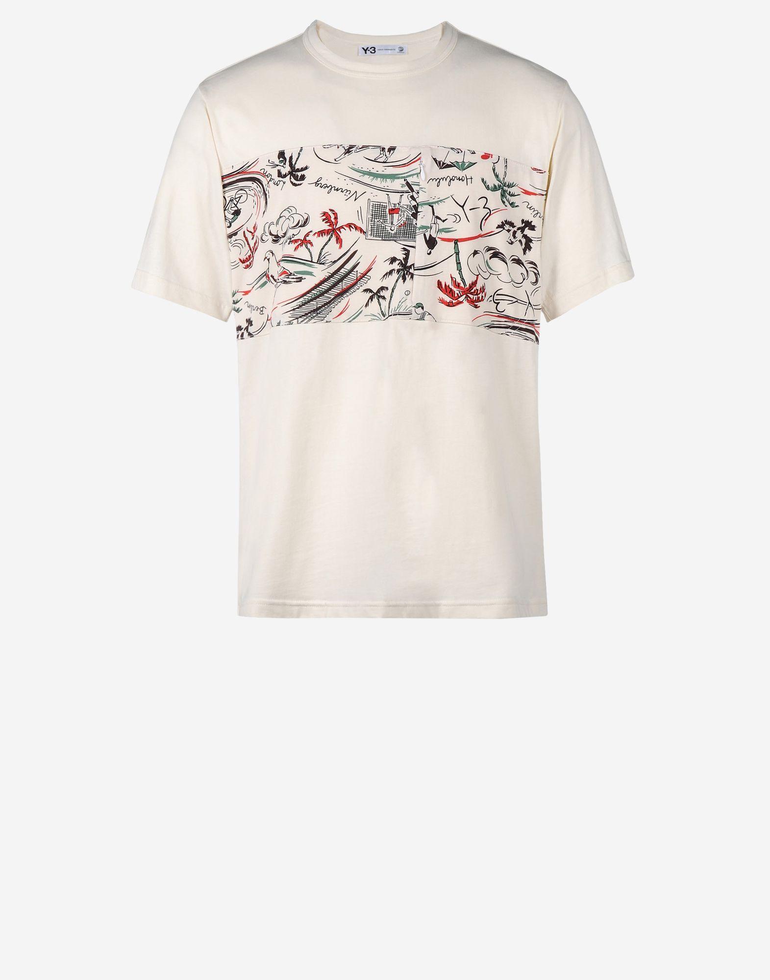 6729d7ecf1b1 ... Y-3 Y-3 Aloha Mix Tee Short sleeve t-shirt Man f ...