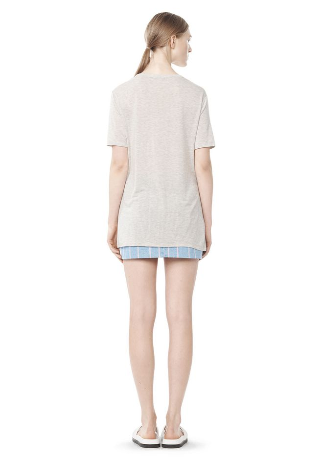 T by ALEXANDER WANG CLASSIC TEE WITH POCKET TOP Adult 12_n_r