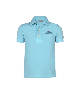 NAPAPIJRI K ELBAS KID KID SHORT SLEEVE POLO,SKY BLUE