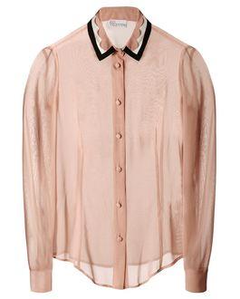 REDValentino Scalloped collar Silk Shirt