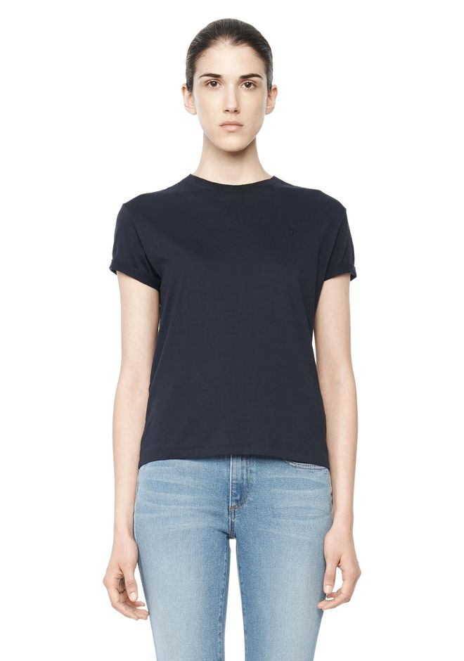 T by ALEXANDER WANG TOPS COTTON CREWNECK TEE