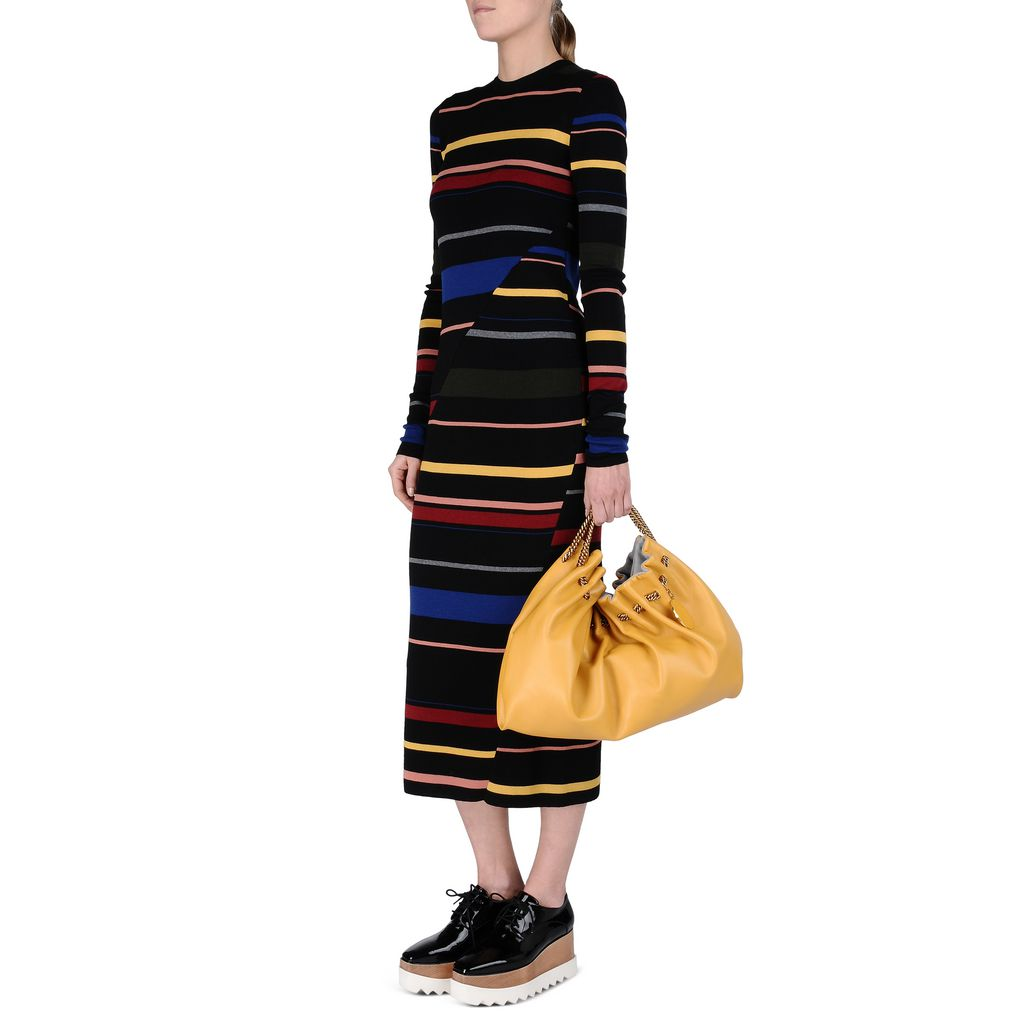 Tight Stripes Long Sleeved Dress - STELLA MCCARTNEY