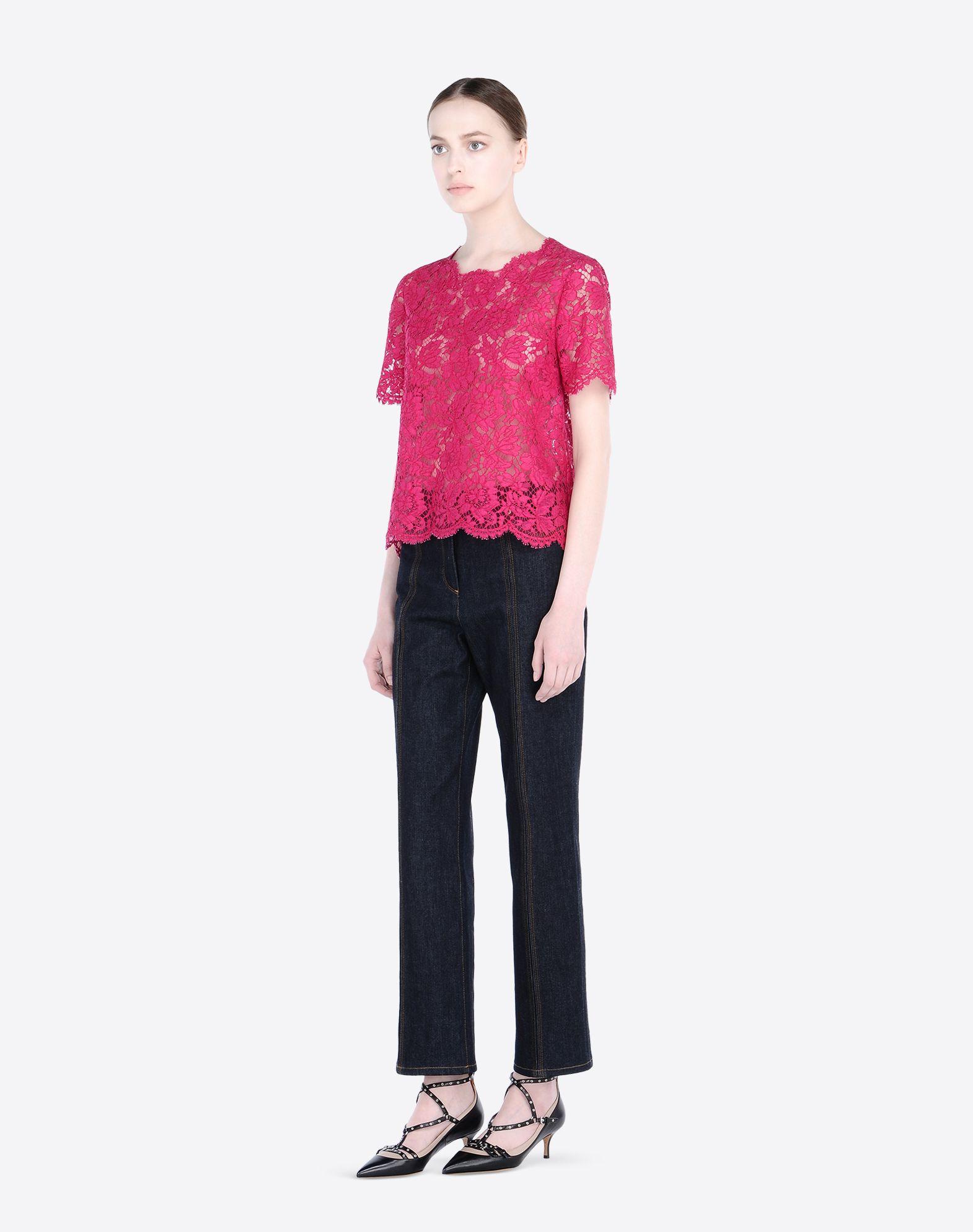 VALENTINO Lace Round collar 1 button  37711742uv