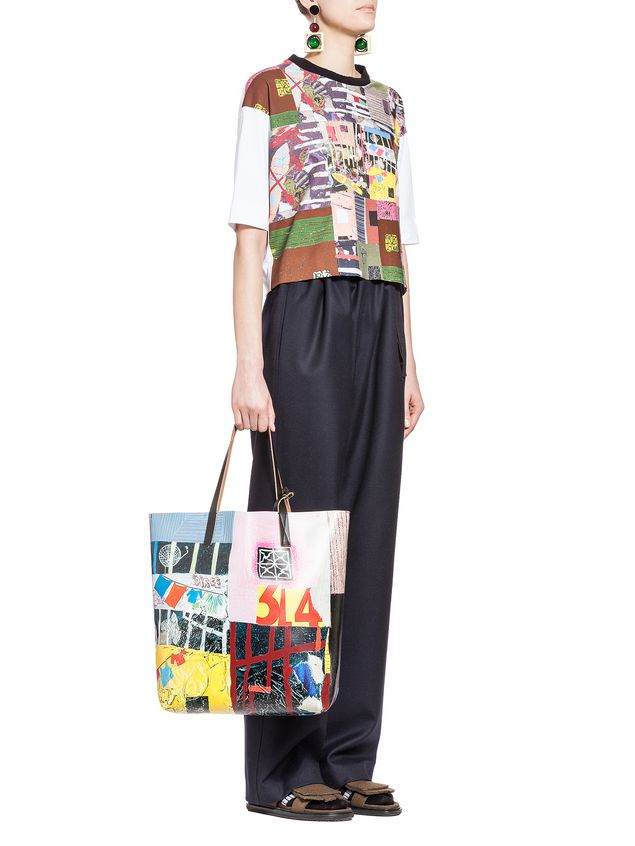 Marni T-shirt in jersey patchwork Roger Mello print Woman - 4