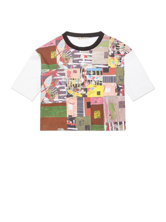 Marni T-shirt in jersey patchwork Roger Mello print Woman - 2