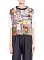 Marni T-shirt in jersey patchwork Roger Mello print Woman - 1