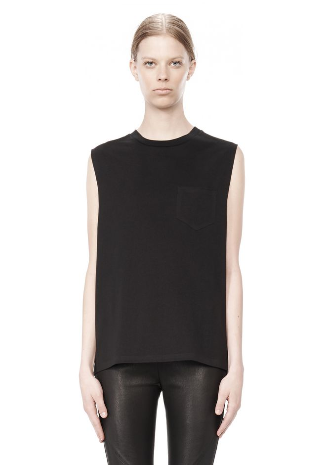 T by ALEXANDER WANG t-by-alexander-wang-sale WELDED COTTON MUSCLE TEE