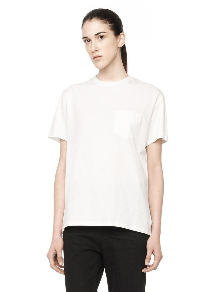 T by ALEXANDER WANG t-by-alexander-wang-sale WELDED COTTON TEE
