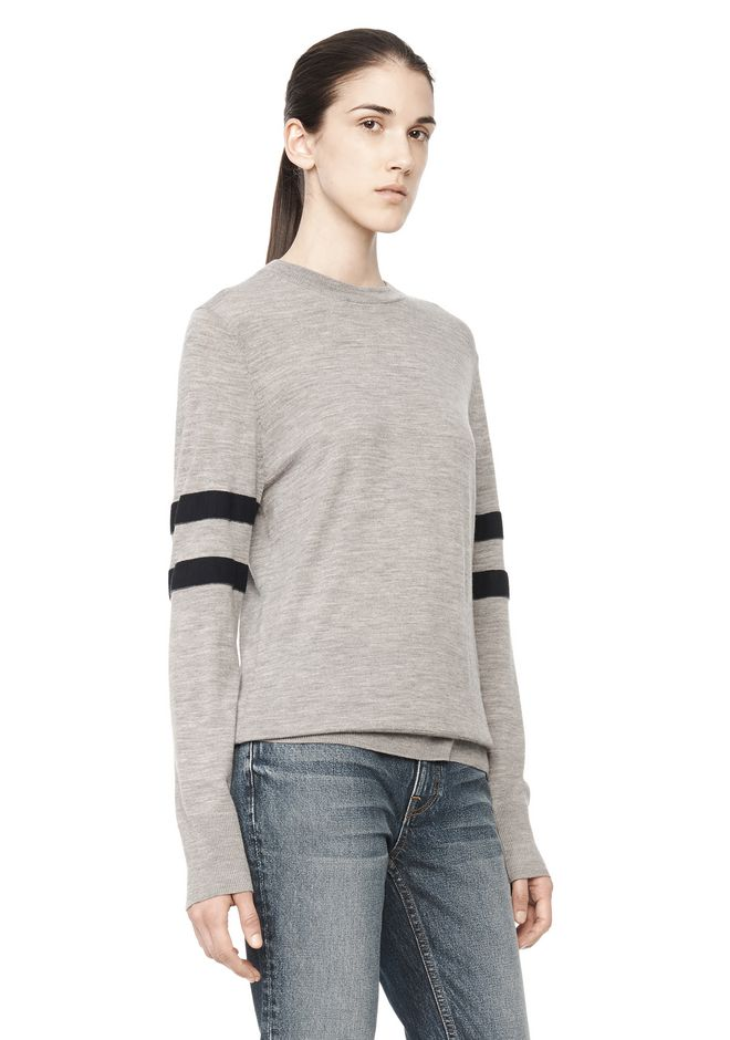 T by ALEXANDER WANG RUGBY KNIT PULLOVER  TOP Adult 12_n_a