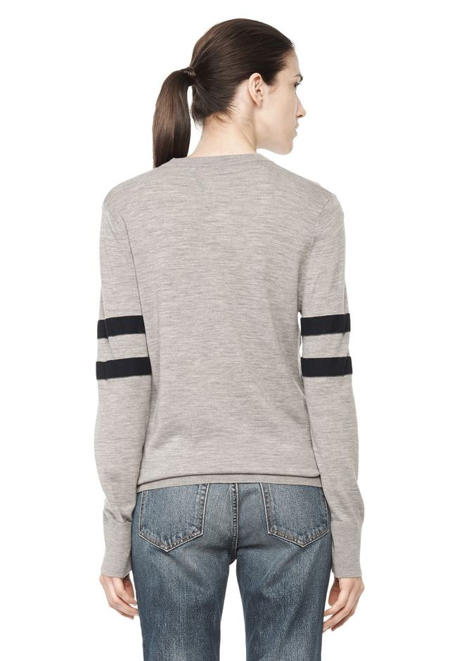 T by ALEXANDER WANG RUGBY KNIT PULLOVER  TOP Adult 12_n_d