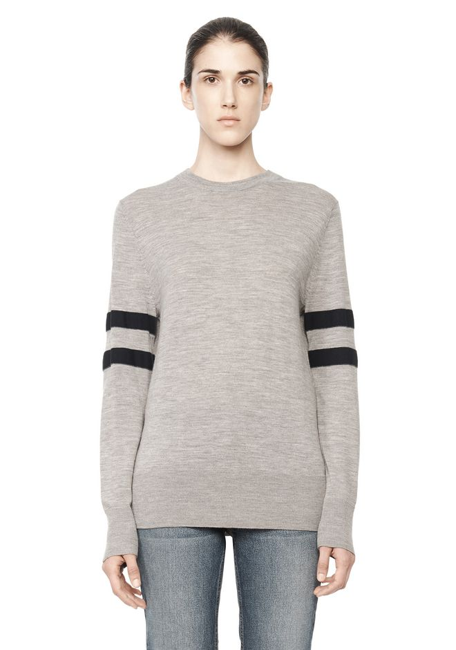 T by ALEXANDER WANG RUGBY KNIT PULLOVER  TOP Adult 12_n_e
