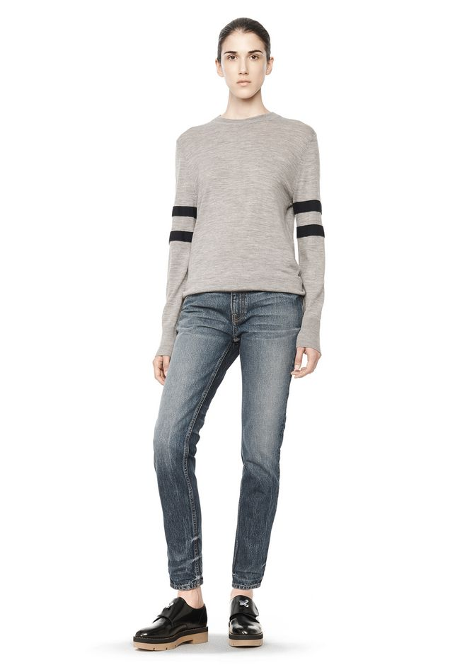 T by ALEXANDER WANG RUGBY KNIT PULLOVER  TOP Adult 12_n_f