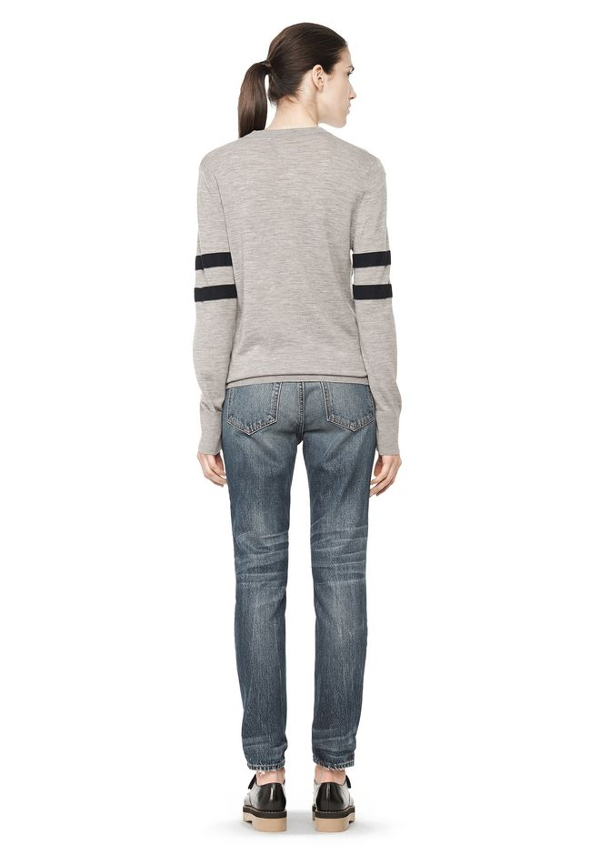 T by ALEXANDER WANG RUGBY KNIT PULLOVER  TOP Adult 12_n_r