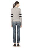 T by ALEXANDER WANG RUGBY KNIT PULLOVER  TOP Adult 8_n_r