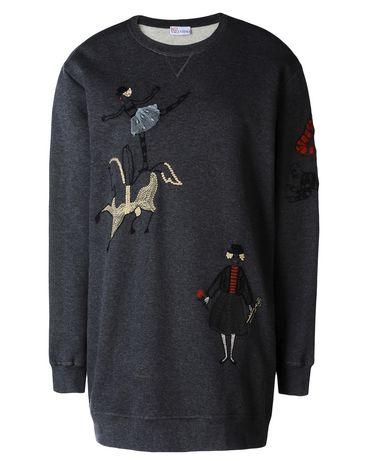 REDValentino Circus embroidered boyfriend sweatshirt