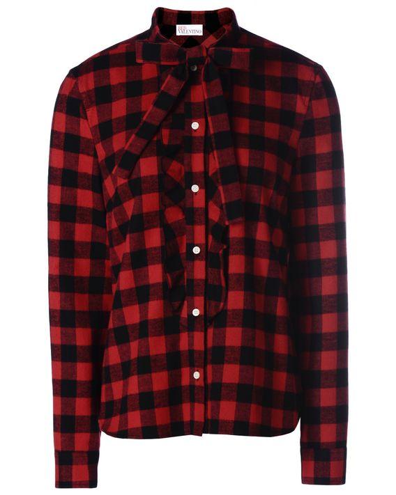 REDValentino Checkered flannel shirt