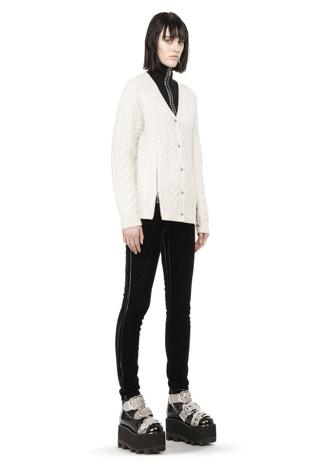 ALEXANDER WANG CABLE KNIT V-NECK CARDIGAN  TOP Adult 12_n_f