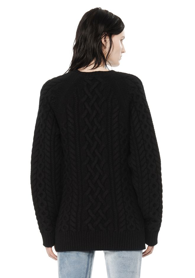 ALEXANDER WANG CABLE KNIT PULLOVER TOP Adult 12_n_d