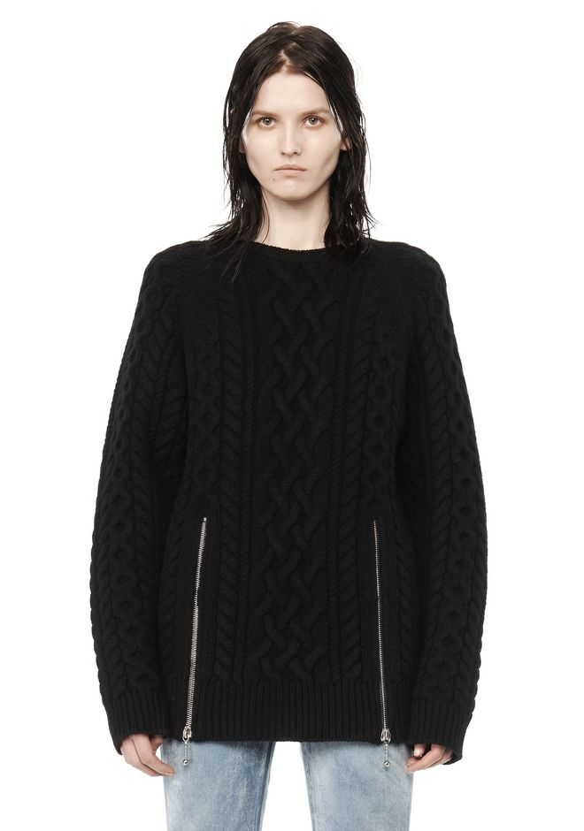 ALEXANDER WANG CABLE KNIT PULLOVER TOP Adult 12_n_e